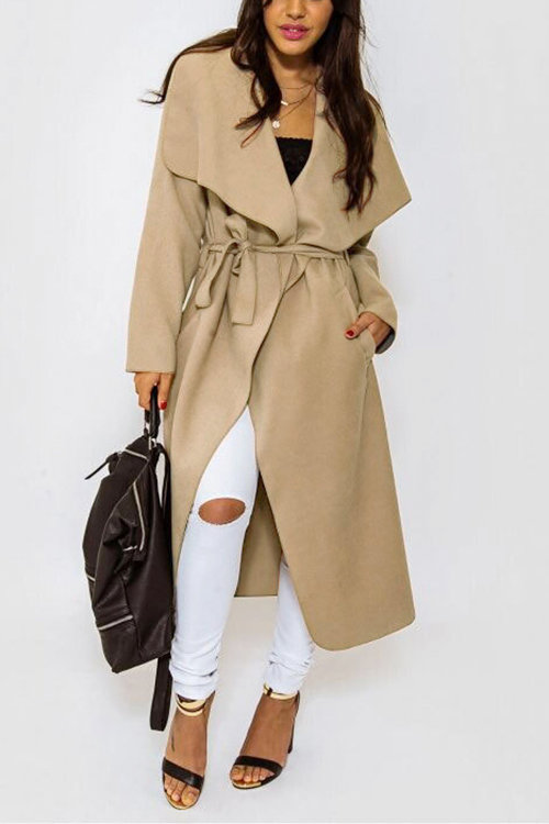 Duster Coat with Waterfall Front And Belt от Yoins.com INT