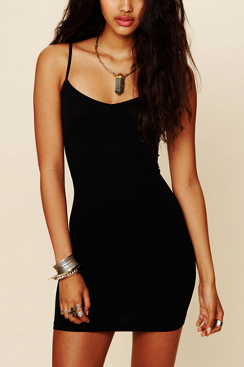 Black Cami Bodycon Mini Dress