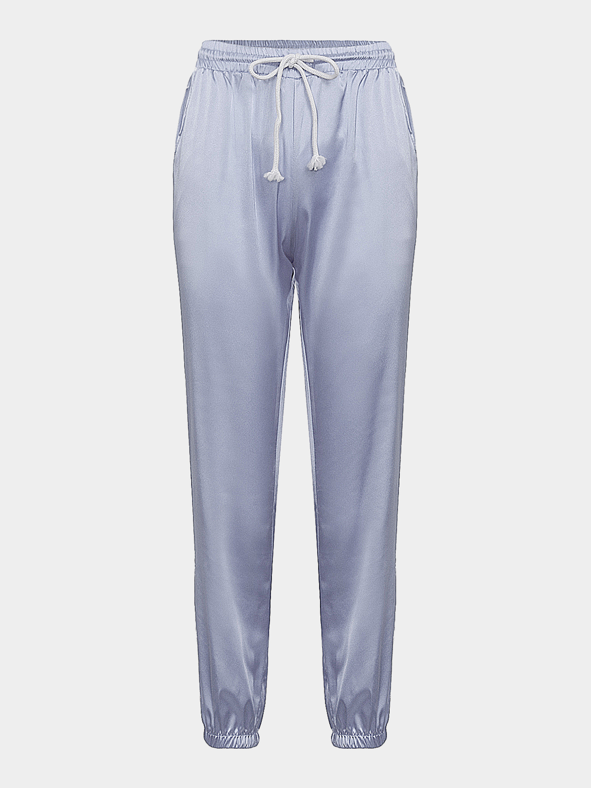 Sliver and grey causal drawstring waist harem trousers...