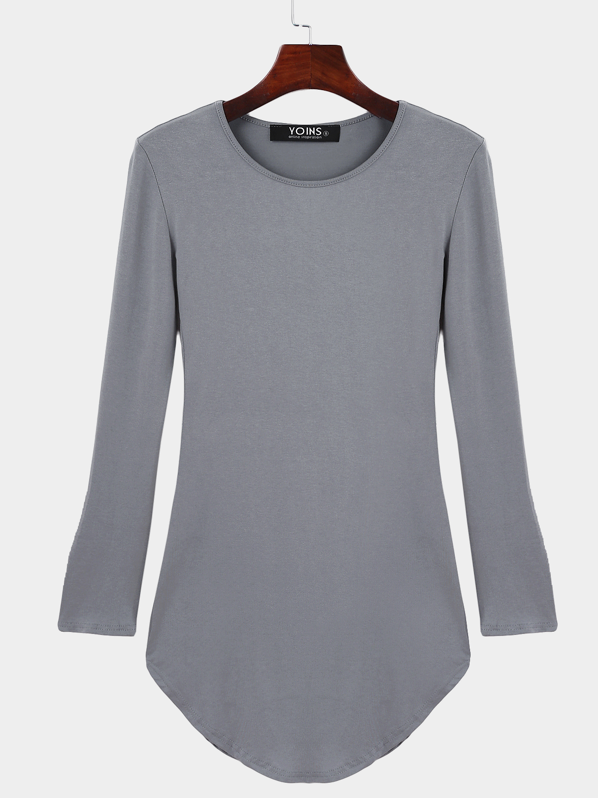 Grey Pullover Curved Hem Bodycon Fit Dress