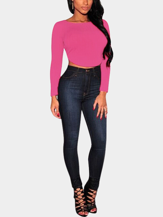 Rose Curved Crop Top