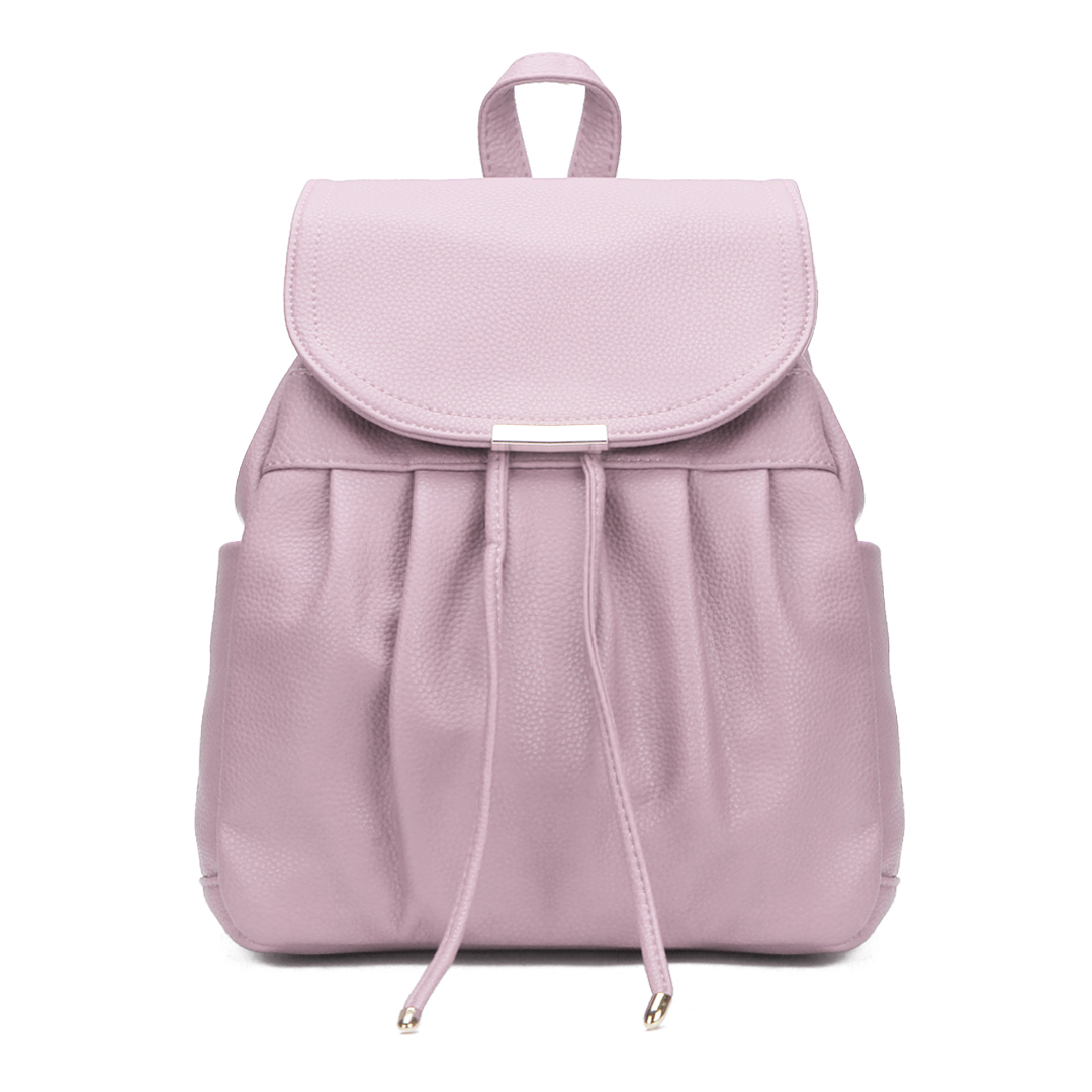 Leather-look Backpack in Pink