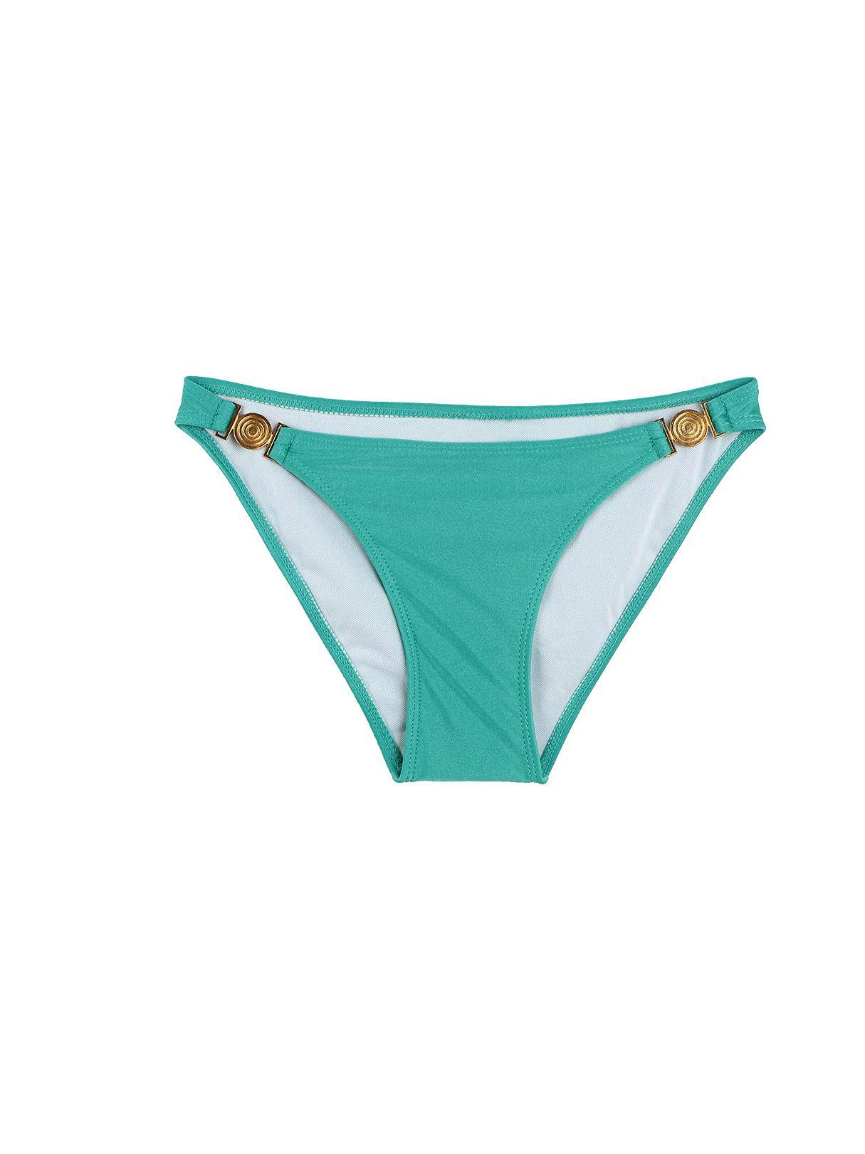 Tied Halter Knotted Bikini Set In Aquamarine от Yoins.com INT