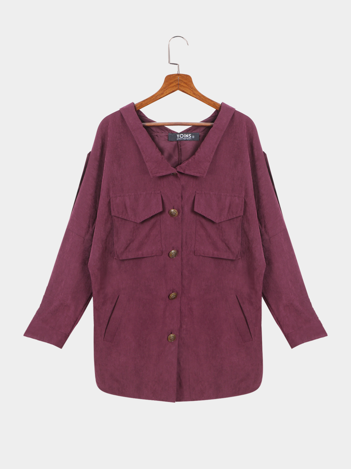 Fuchsia Loose Fit Trench Outwear