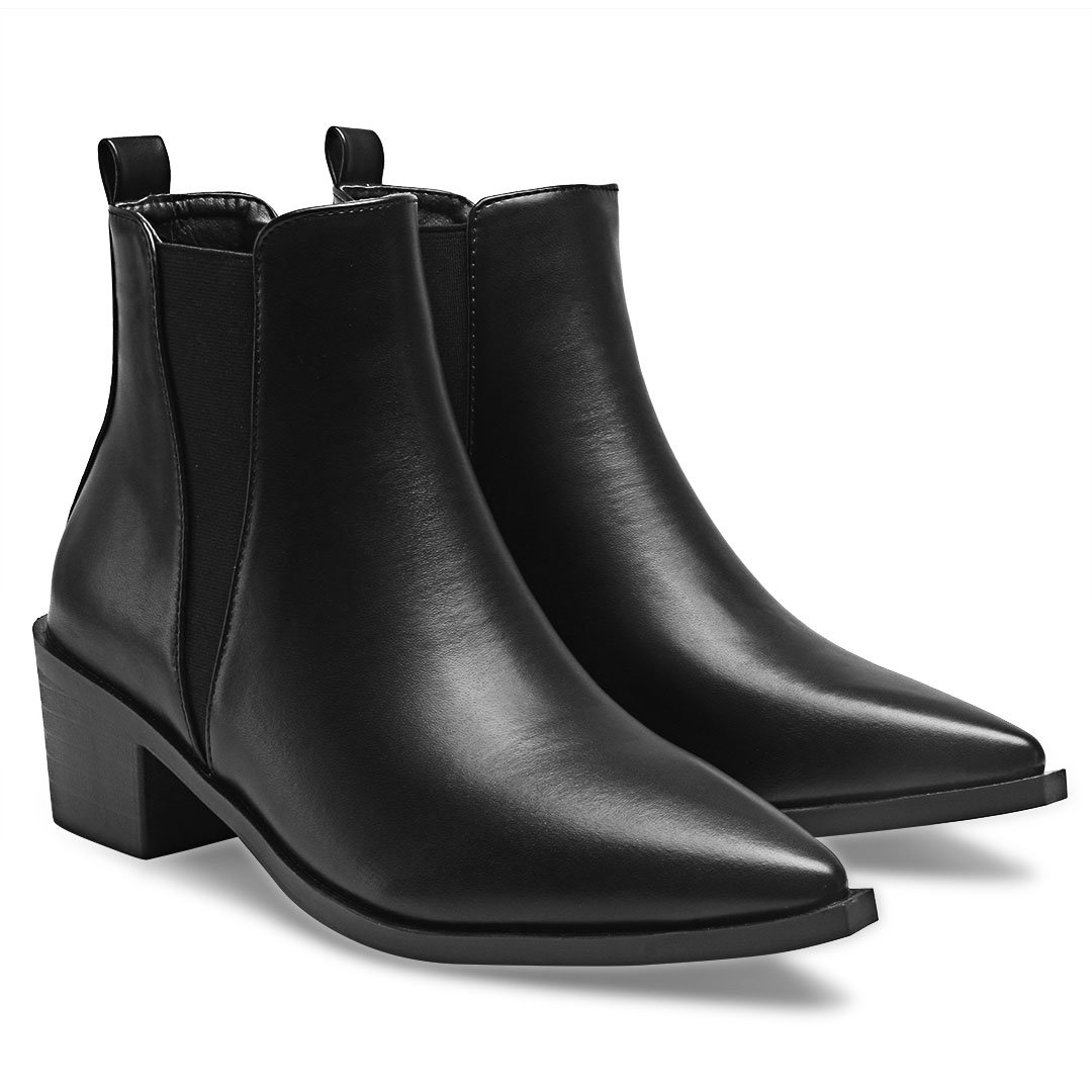 Leather-look Chelsea Boots