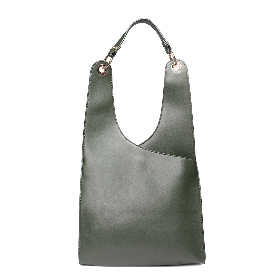 Green Fashion PU Leather Shoulder Bag