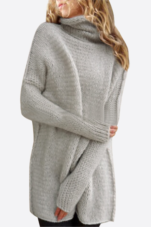 Splitting pullover knitted loose jumper