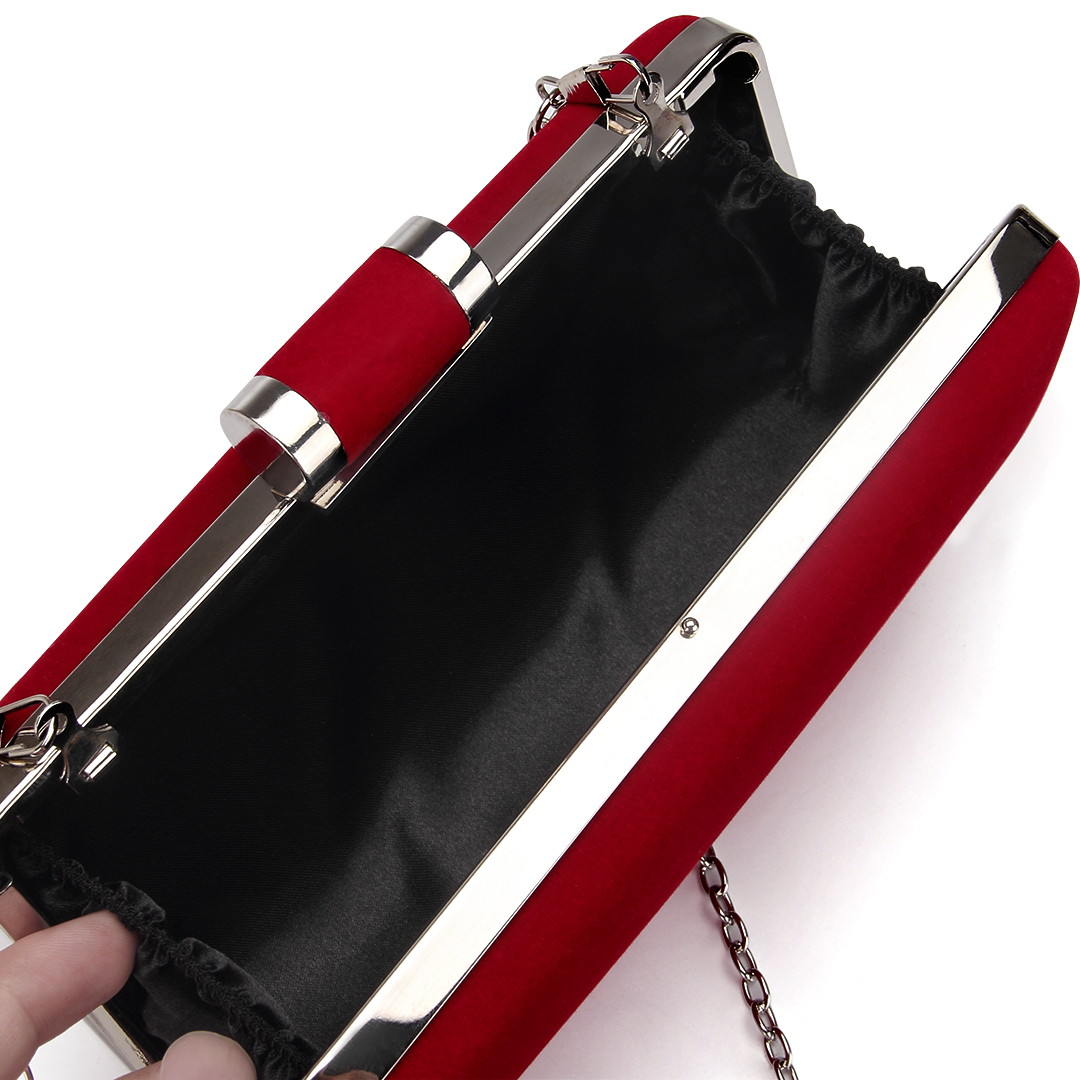 Velvet Box Clutch Bag in Red от Yoins.com INT