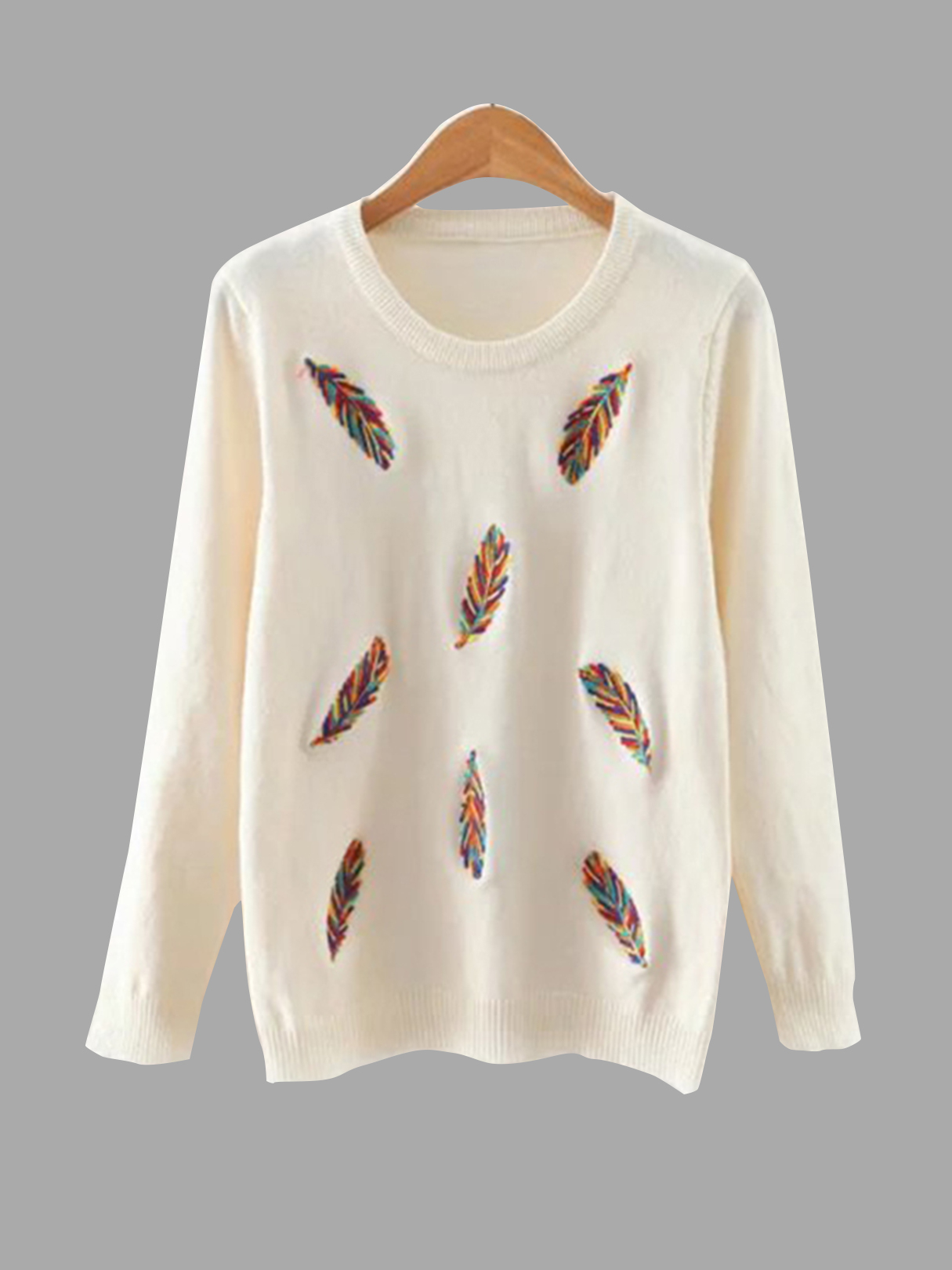 Embroidery Pattern Front Round Neck Knitwearr