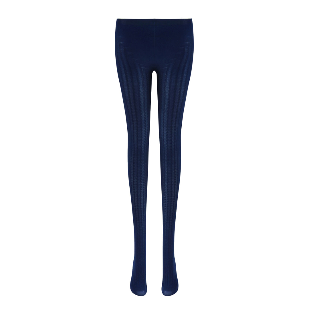 Navy Rib Tights