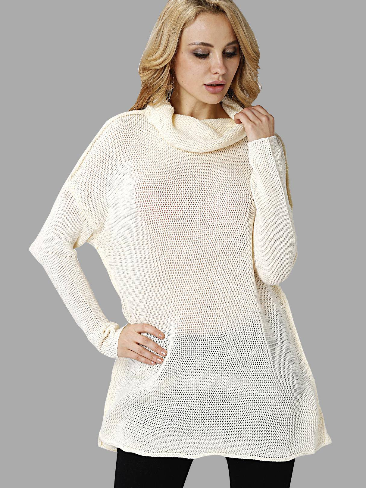 Fashion High Neck Pullover Loose Jumper