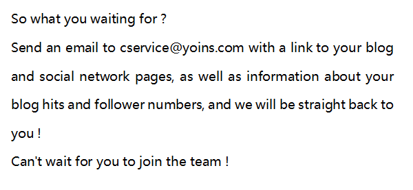Join our blog team for free clothes