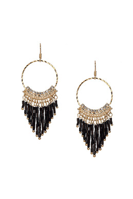 Bead Embellished Drop Earrings SKU355590