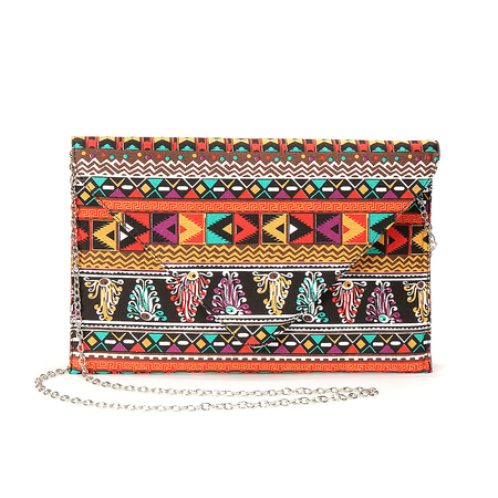Indian Pattern Design Clutch Bag