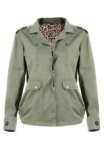 Coat In Army Green