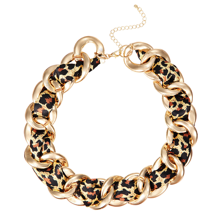 Leopard Chain Choker Necklace