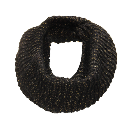 Cosy Knit Infinity Scarf with Lurex Detail