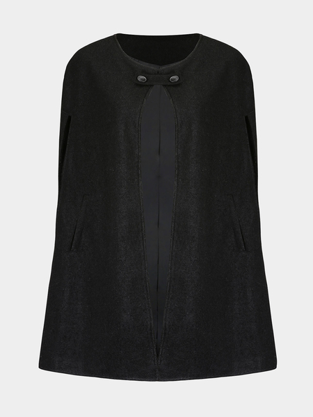 Collarless Cape Coat