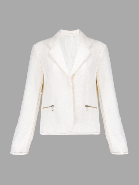 White Blazer with Notch Lapels