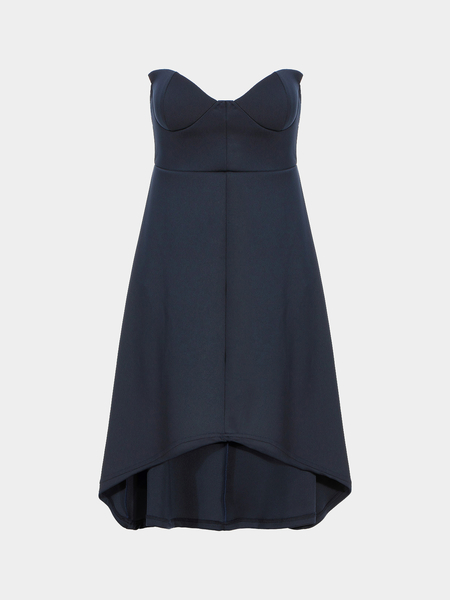 Indigo Strapless Full Dress