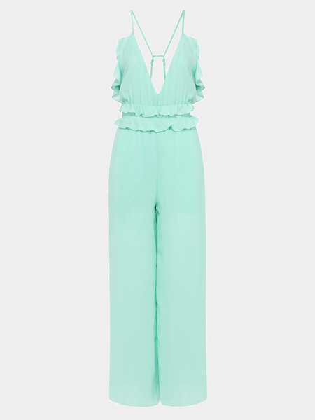 Chiffon Jumpsuits With Straps