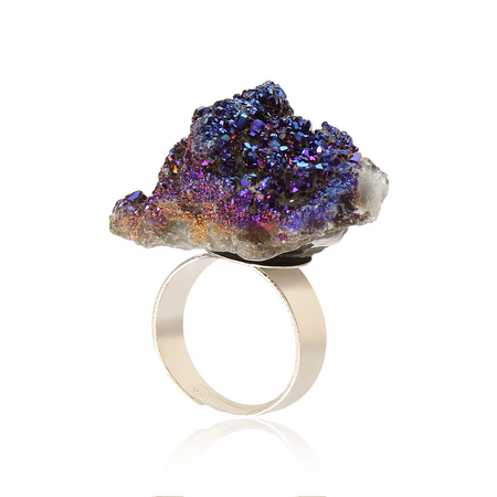 Fashion Crystal Cluster Ring