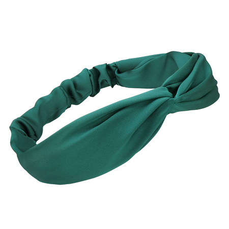 Knotted Headband In Green