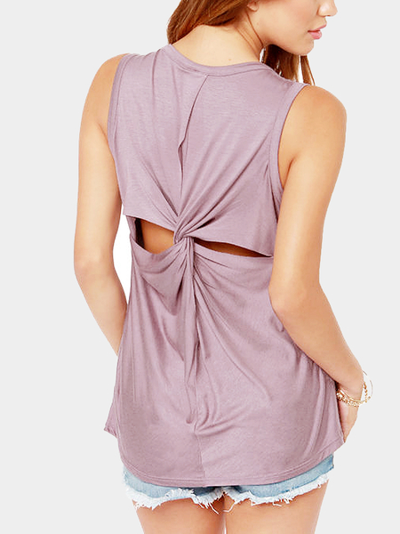 Open Cross Back Tank Top