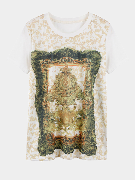 T-Shirt With Totem Print