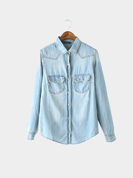Denim Boyfriend Shirt in Wash