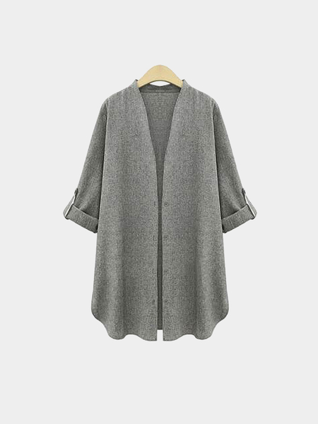 Plus Size Cinza escuro Trench Coat