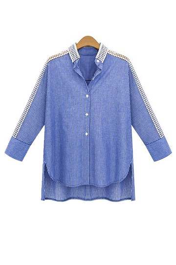 Plus Size Oca Out Stripe Shirt