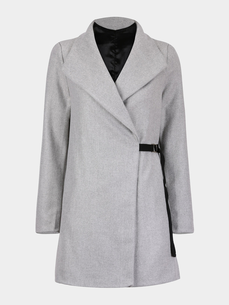 Woolen Coat with Tie Details