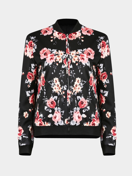 Fashion Jacket with Floral Print