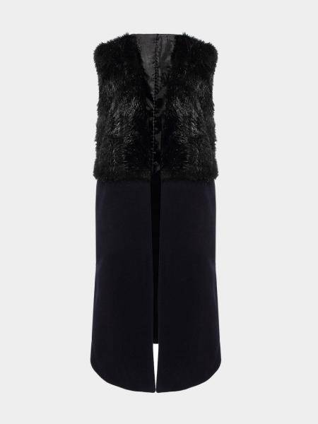 Gilet with Faux Fur Detail
