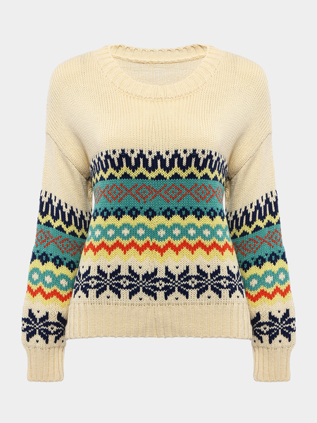 Colorful Jumper with Rhombus Print