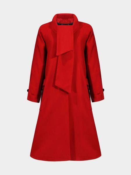 Longline Duster Coat in Red
