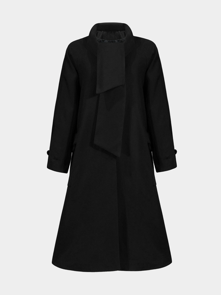 Longline Duster Coat in Black