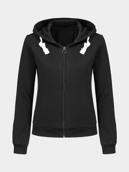 Sweat à capuche Zip noir