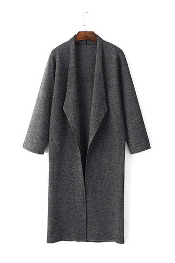 Longline Knitted Duster Coat