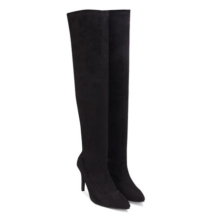 Over The Knee High Heeled Stiefel