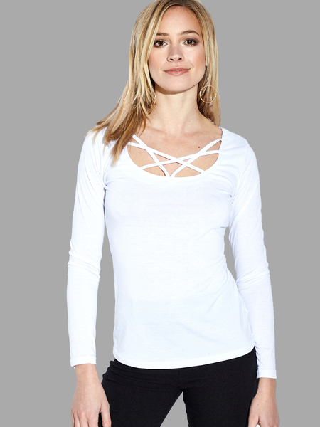 Camiseta transparente con tirantes cruzados blanca de See-through