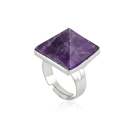 Pyramid Crystal Ring