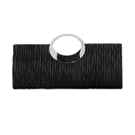 Black Fashion Clutch Bags with Chain Strap