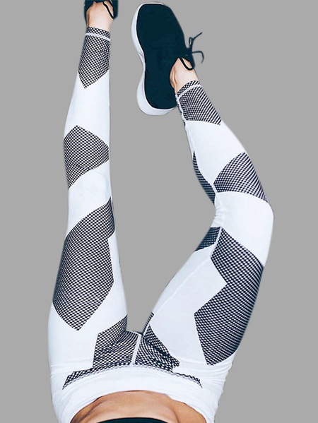 Random Floreale Stampa Yoga Bodycon Leggings