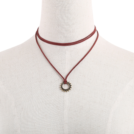Fashion Layered Design Pendant Choker Necklace