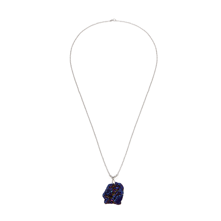Blue Irregular Geode Pendant Necklace