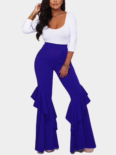 Apricot Tiered Design Wide Leg Trousers