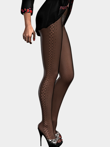 Sexy Hollow Out Fishnet Stockings em preto