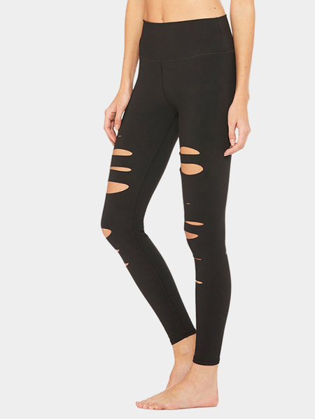 Nero Tagliare Leggings Bodycon Yoga